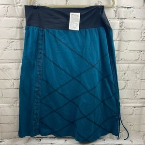 NWT Leopards and roses stretch waist skirt
